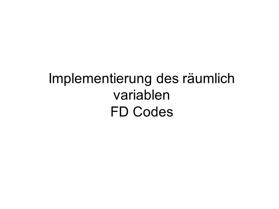 Implementierung des räumlich variablen FD Codes