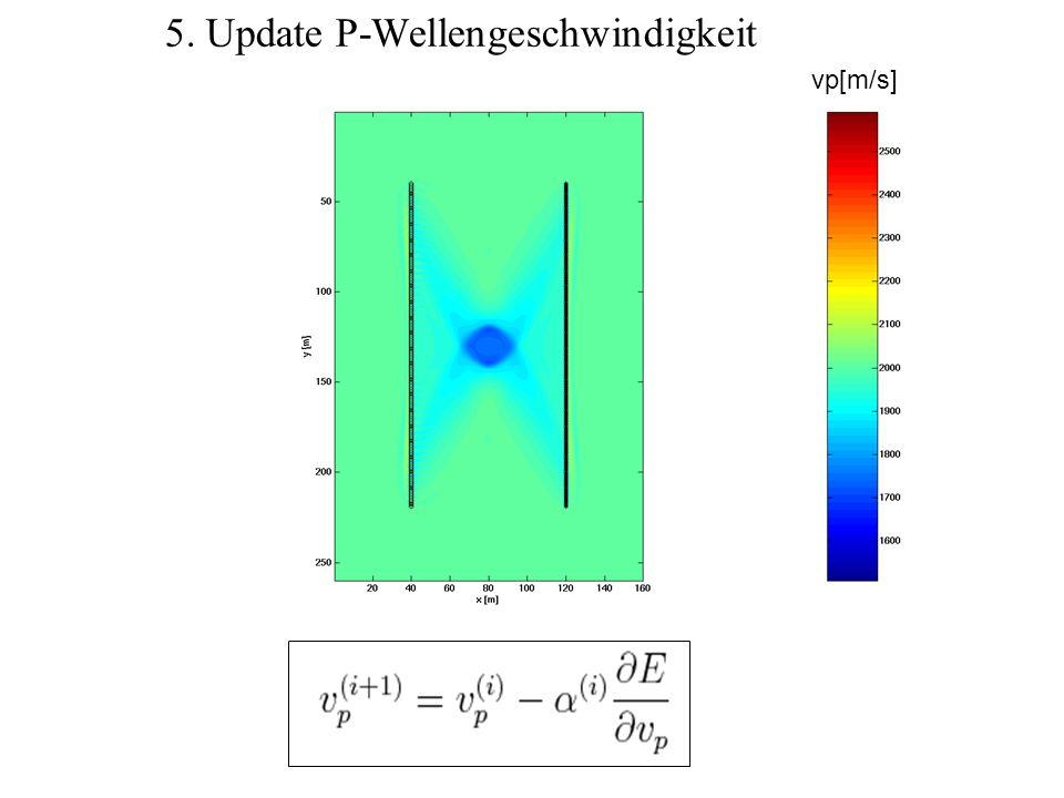 5. Update P-Wellengeschwindigkeit