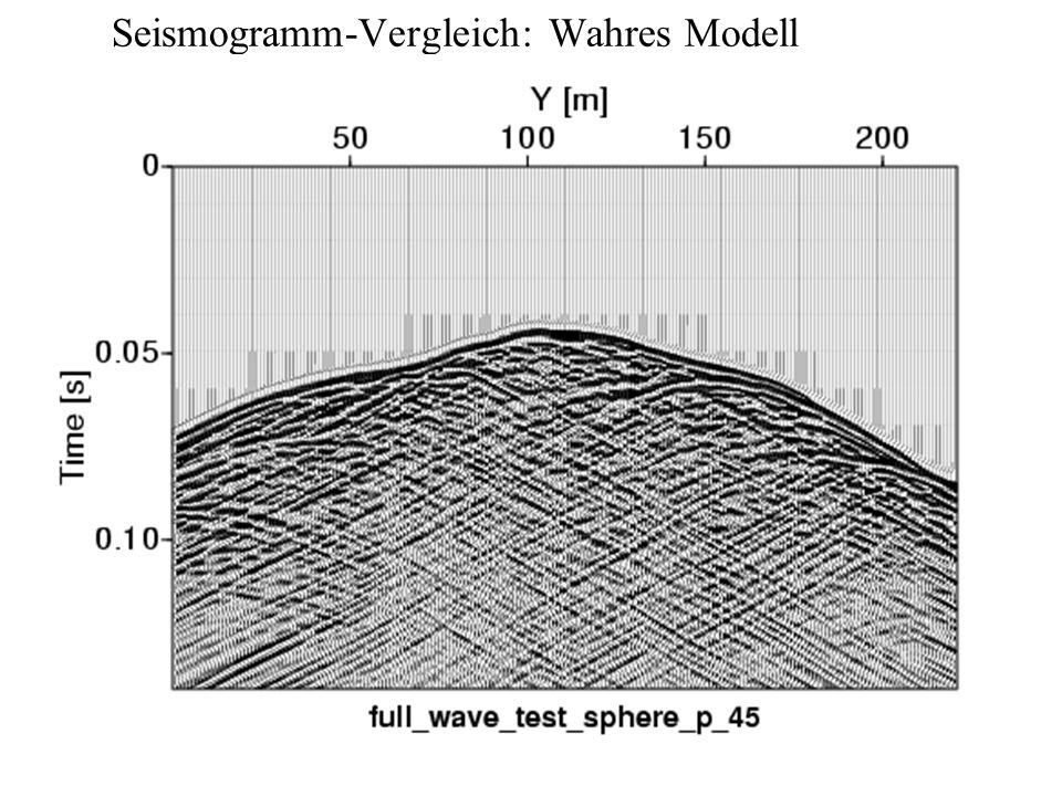 Seismogramm-Vergleich: Wahres Modell