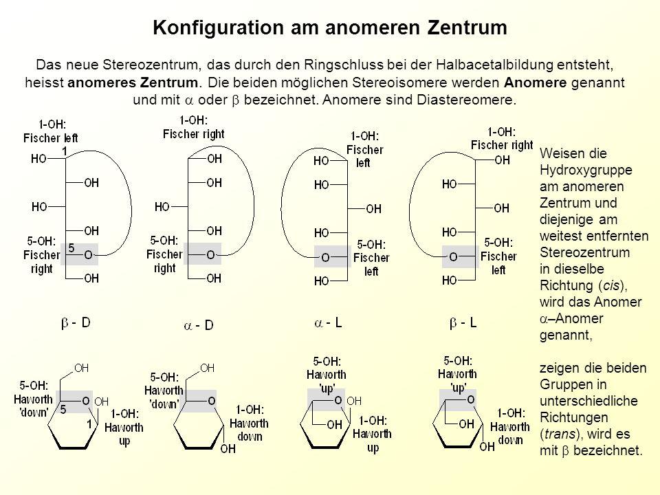 Konfiguration am anomeren Zentrum