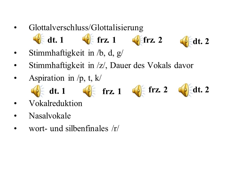 Glottalverschluss/Glottalisierung