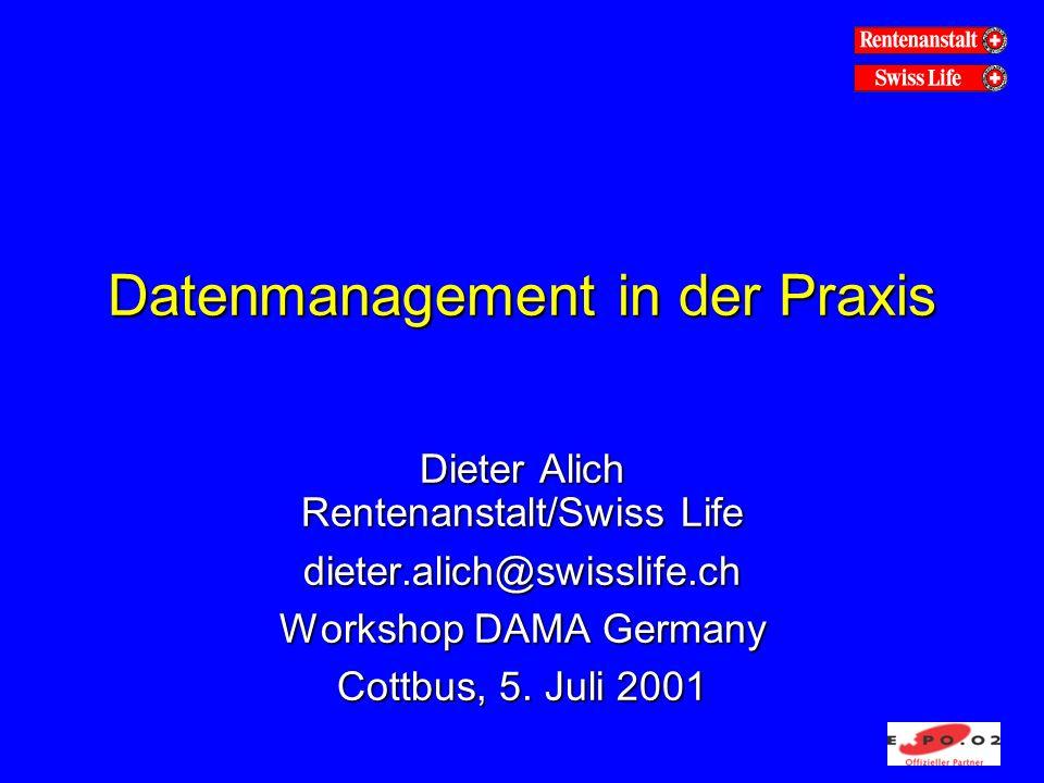 Datenmanagement in der Praxis