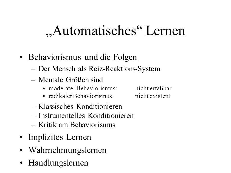 """""""Automatisches Lernen"""