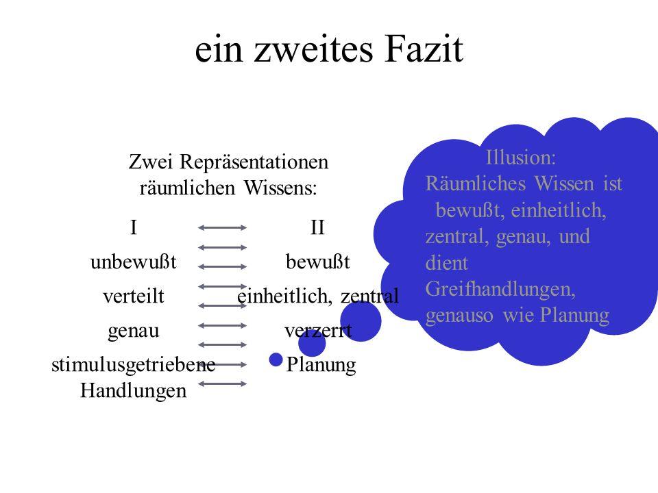 Zwei Repräsentationen räumlichen Wissens: