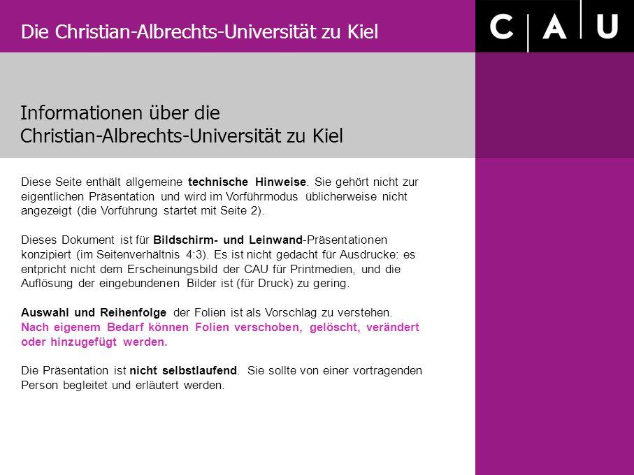 Informationen über die Christian-Albrechts-Universität zu Kiel
