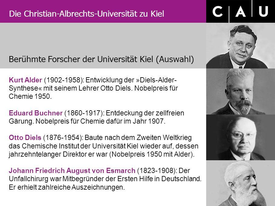 Berühmte Forscher der Universität Kiel (Auswahl)