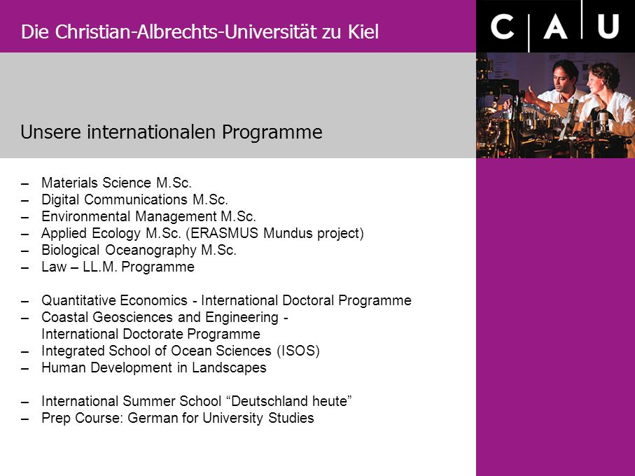 Unsere internationalen Programme