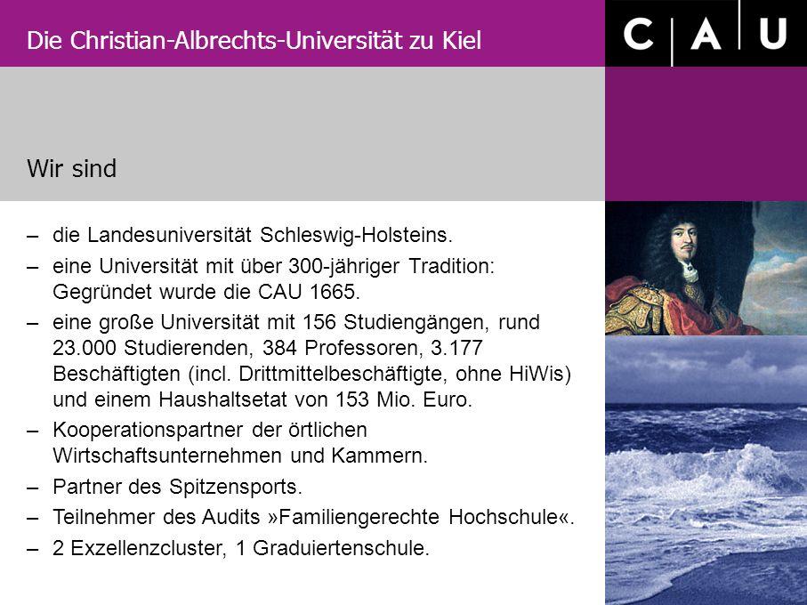 Wir sind die Landesuniversität Schleswig-Holsteins.