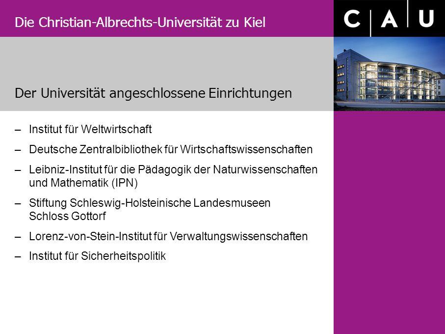 Der Universität angeschlossene Einrichtungen