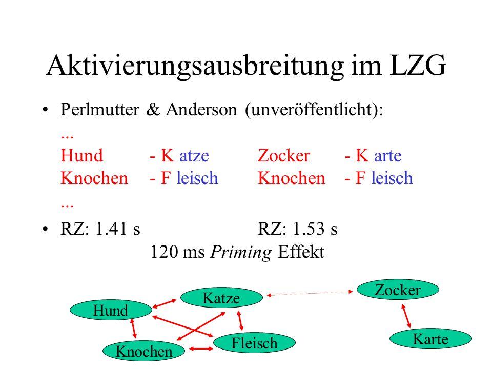 Aktivierungsausbreitung im LZG