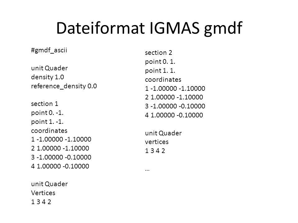 Dateiformat IGMAS gmdf