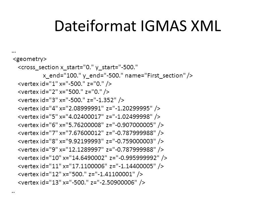 Dateiformat IGMAS XML … <geometry>