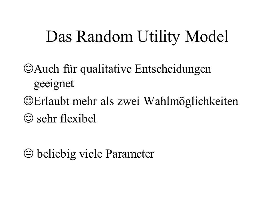 Das Random Utility Model