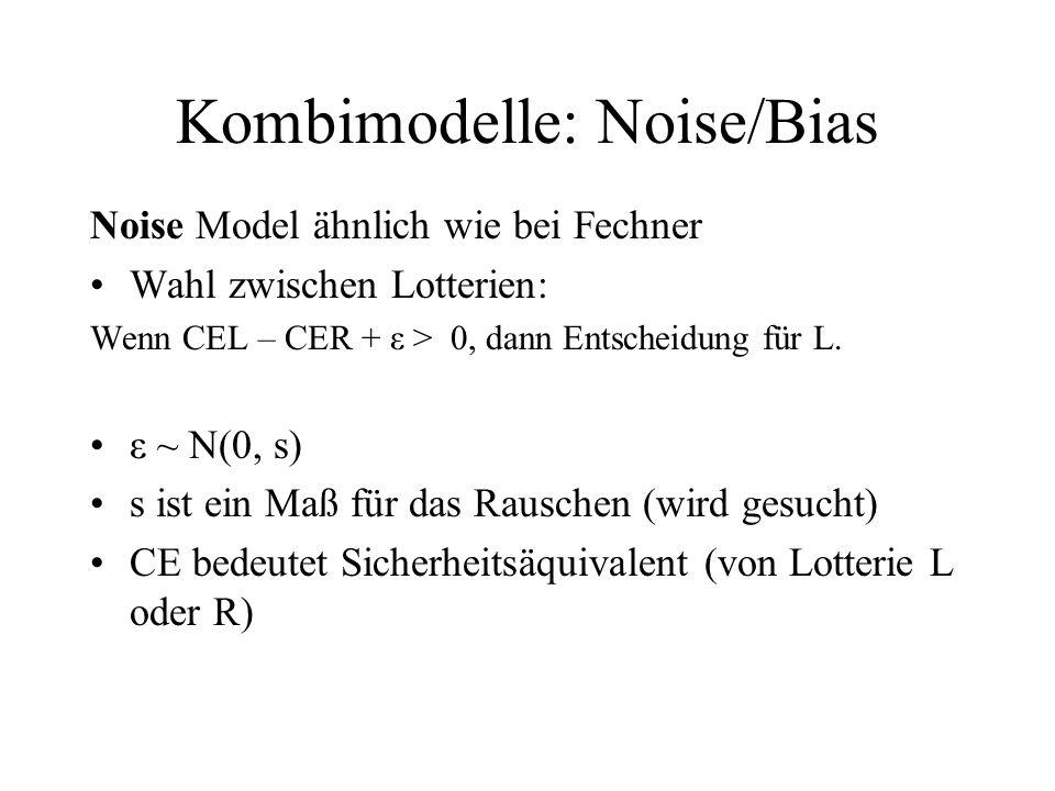 Kombimodelle: Noise/Bias