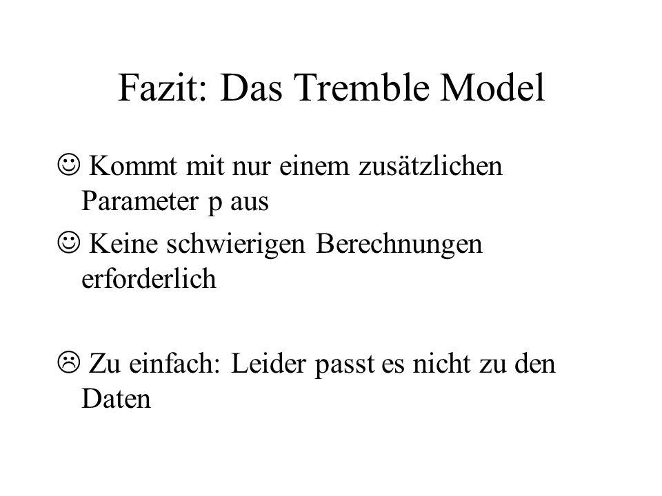 Fazit: Das Tremble Model