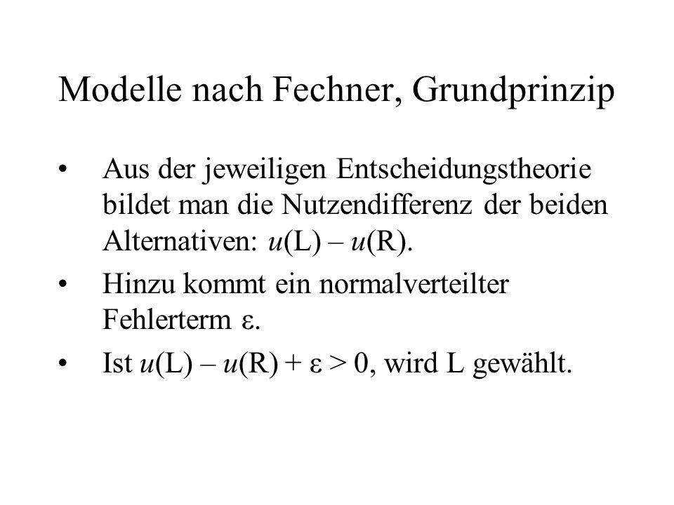 Modelle nach Fechner, Grundprinzip