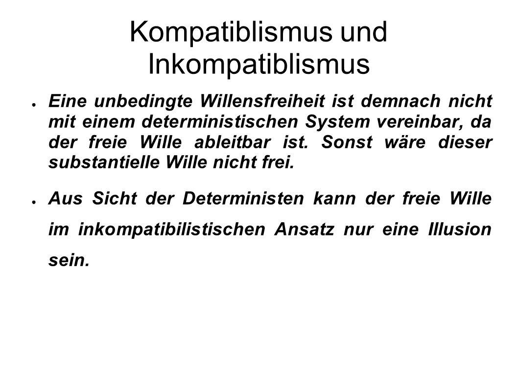 Kompatiblismus und Inkompatiblismus