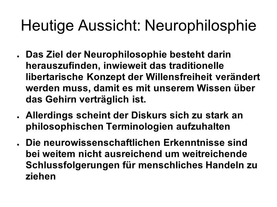 Heutige Aussicht: Neurophilosphie