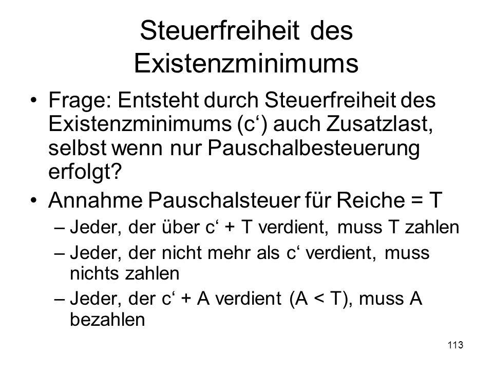 Steuerfreiheit des Existenzminimums