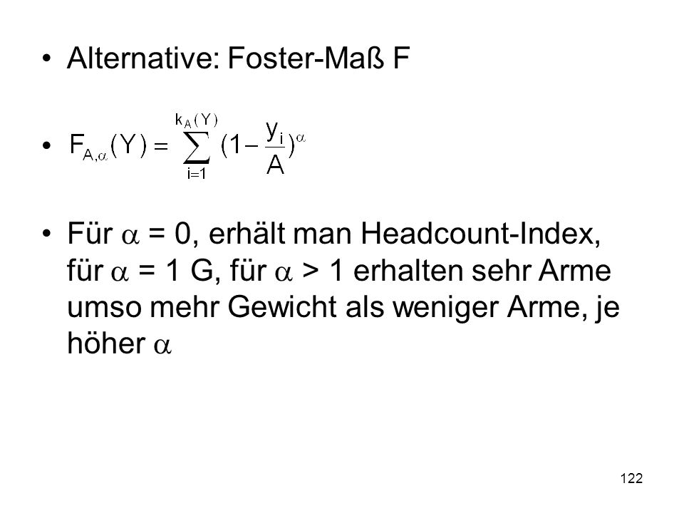 Alternative: Foster-Maß F