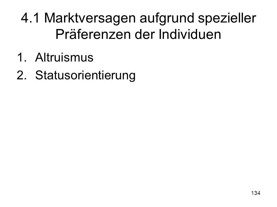 4.1 Marktversagen aufgrund spezieller Präferenzen der Individuen