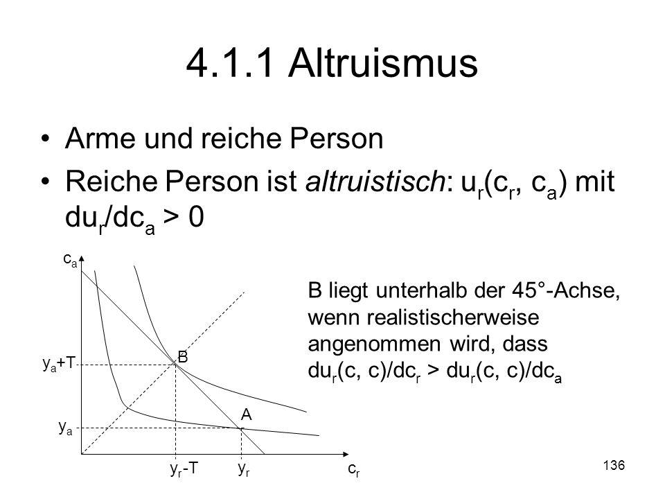 4.1.1 Altruismus Arme und reiche Person