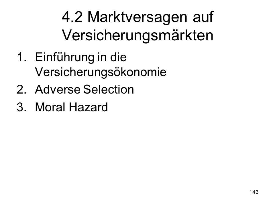 4.2 Marktversagen auf Versicherungsmärkten