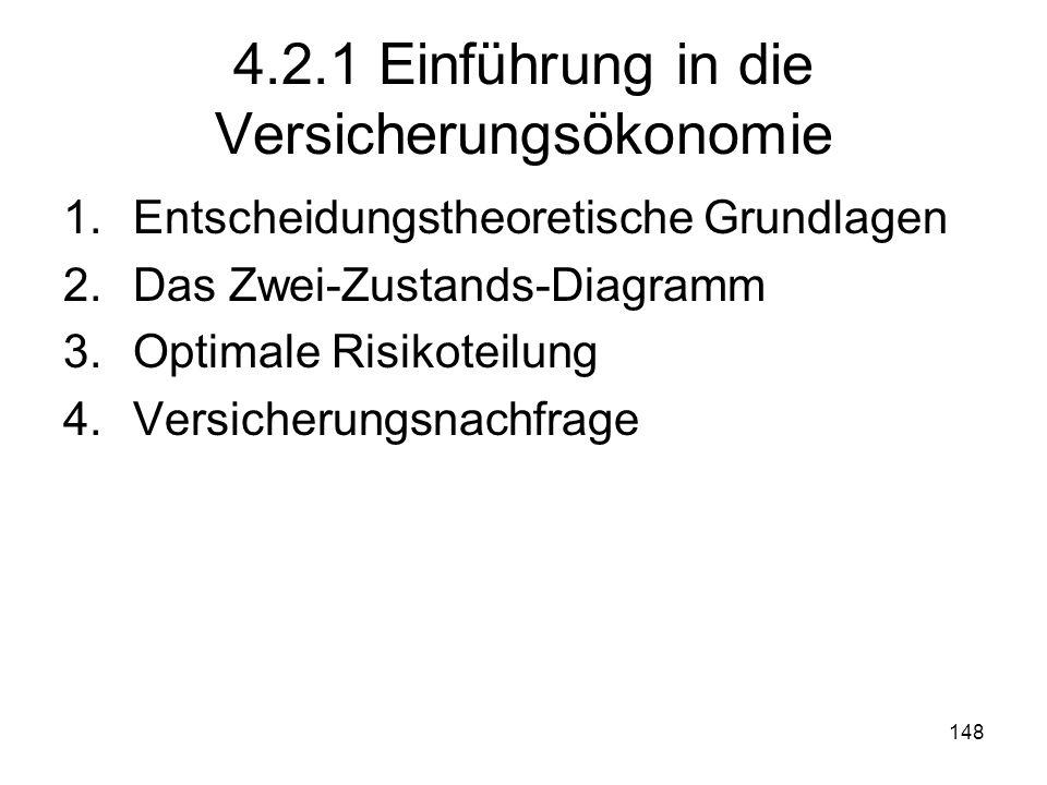 4.2.1 Einführung in die Versicherungsökonomie