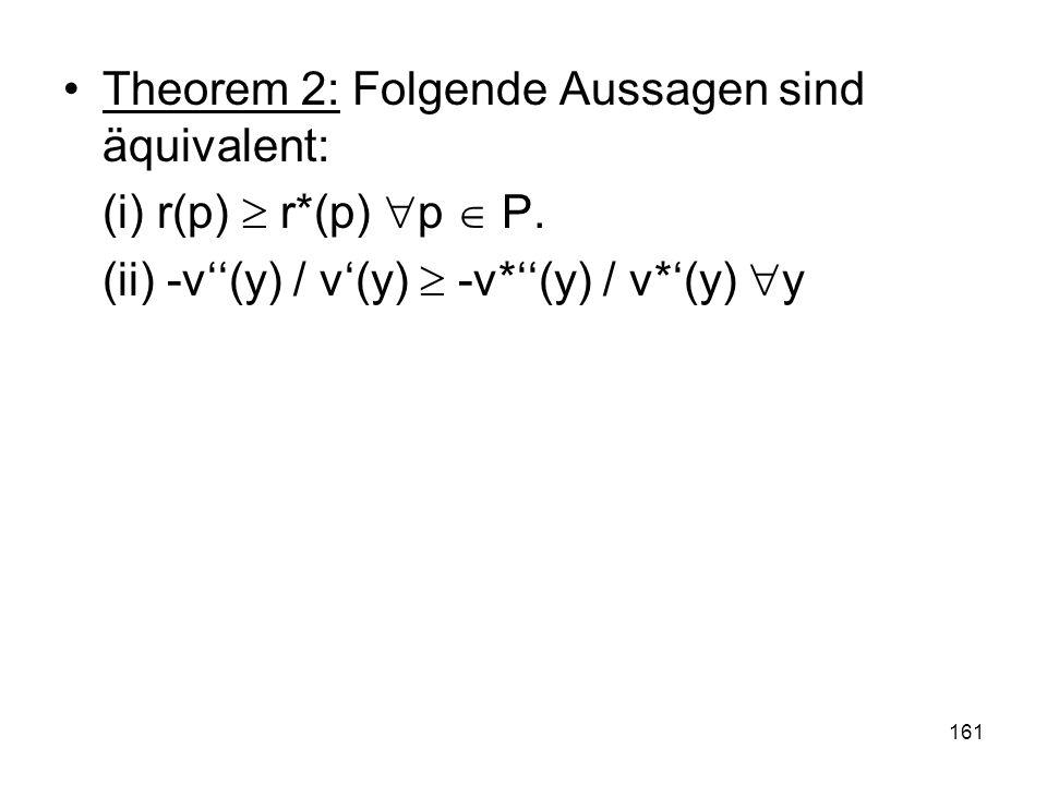 Theorem 2: Folgende Aussagen sind äquivalent: