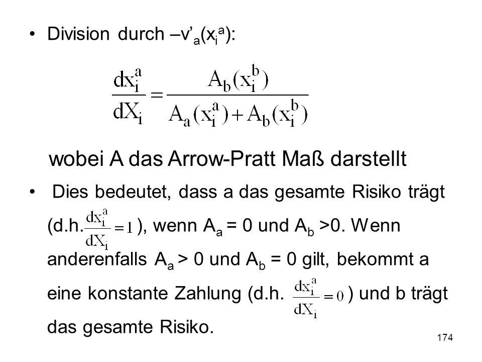 wobei A das Arrow-Pratt Maß darstellt