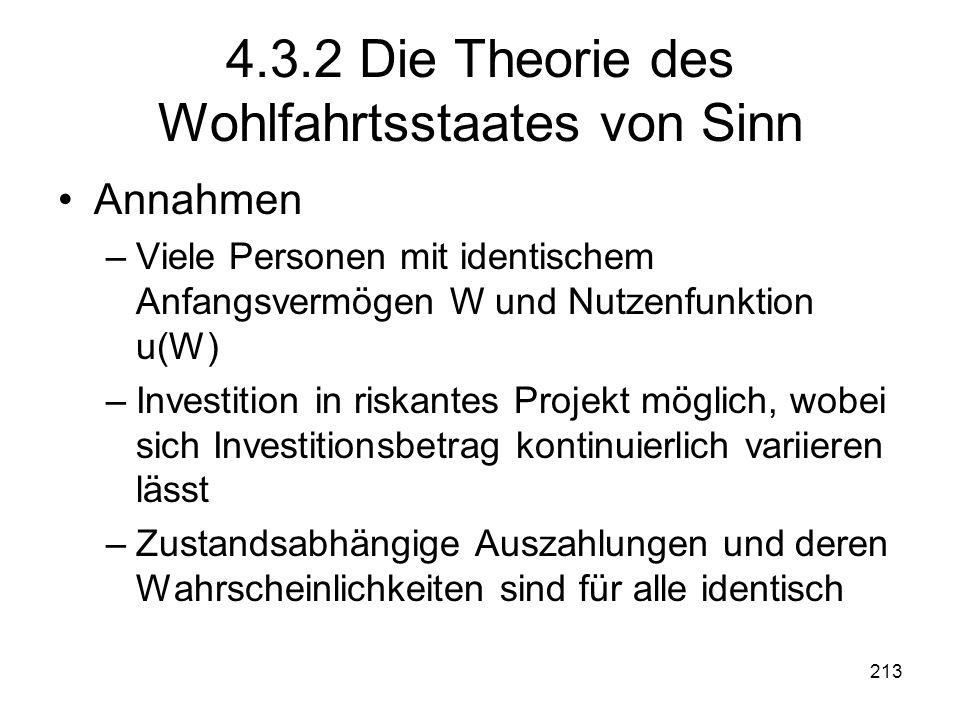 4.3.2 Die Theorie des Wohlfahrtsstaates von Sinn