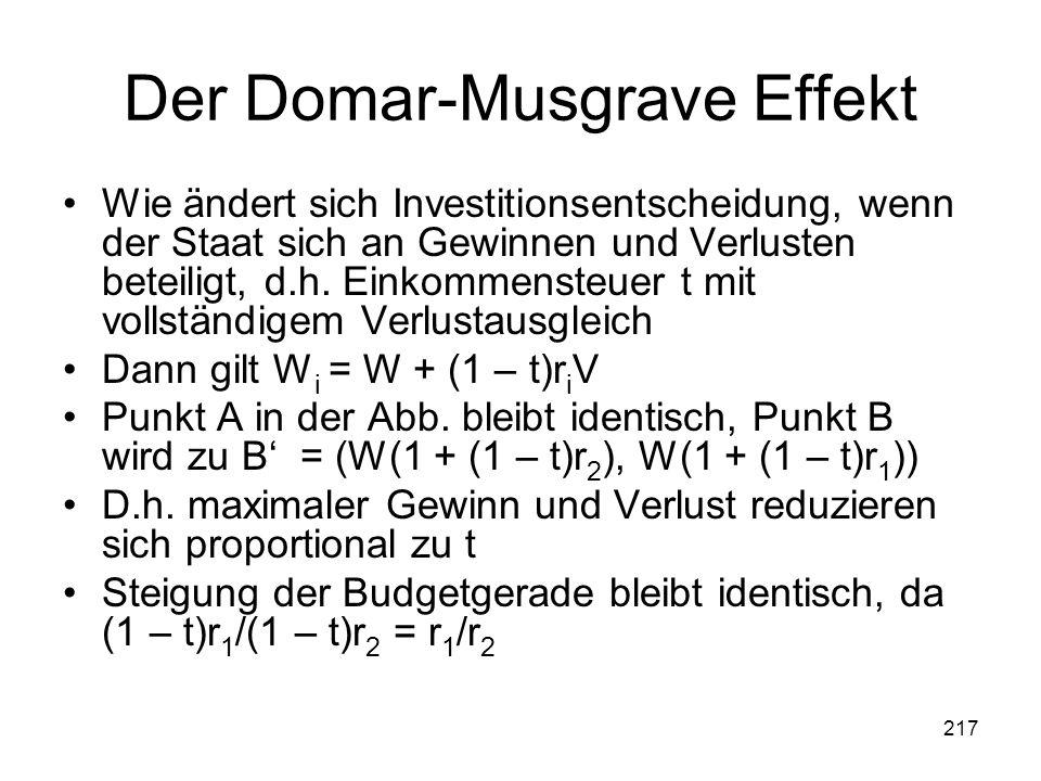 Der Domar-Musgrave Effekt
