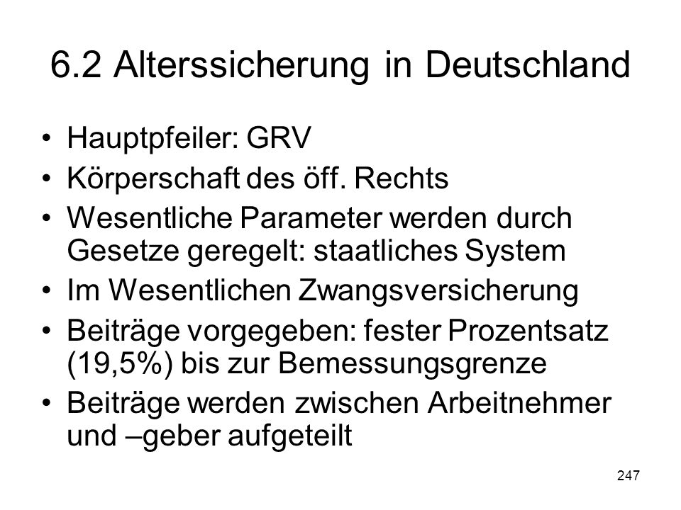 6.2 Alterssicherung in Deutschland