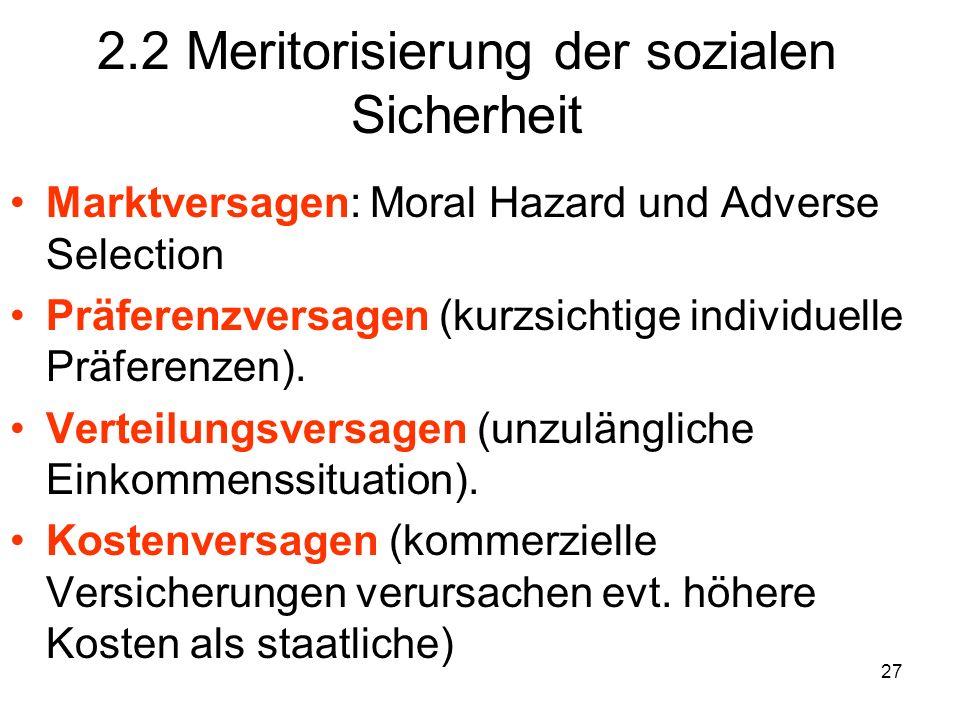 2.2 Meritorisierung der sozialen Sicherheit