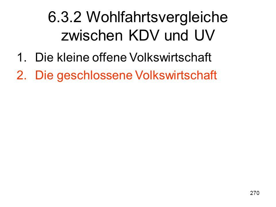 6.3.2 Wohlfahrtsvergleiche zwischen KDV und UV