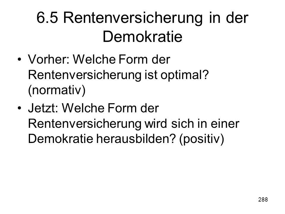 6.5 Rentenversicherung in der Demokratie