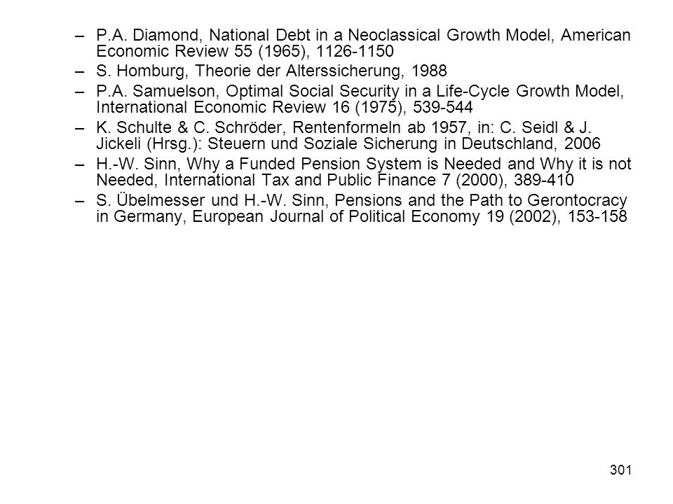 P.A. Diamond, National Debt in a Neoclassical Growth Model, American Economic Review 55 (1965), 1126-1150