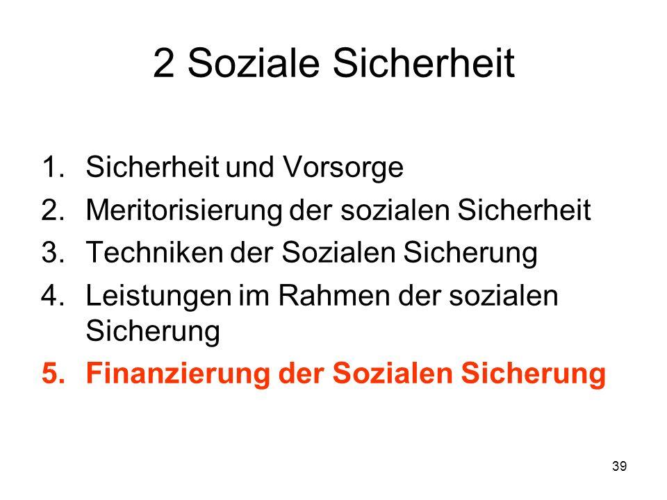 2 Soziale Sicherheit Sicherheit und Vorsorge