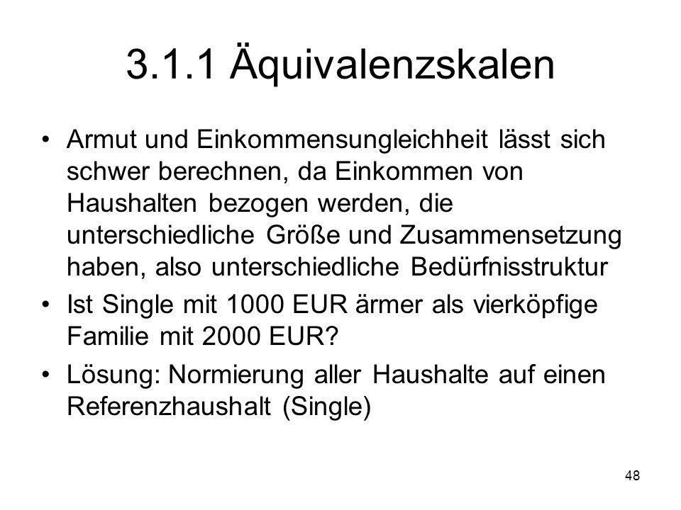 3.1.1 Äquivalenzskalen