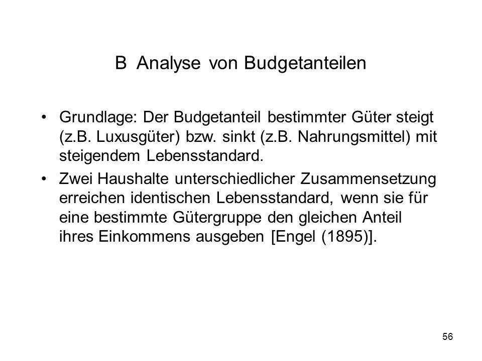 B Analyse von Budgetanteilen