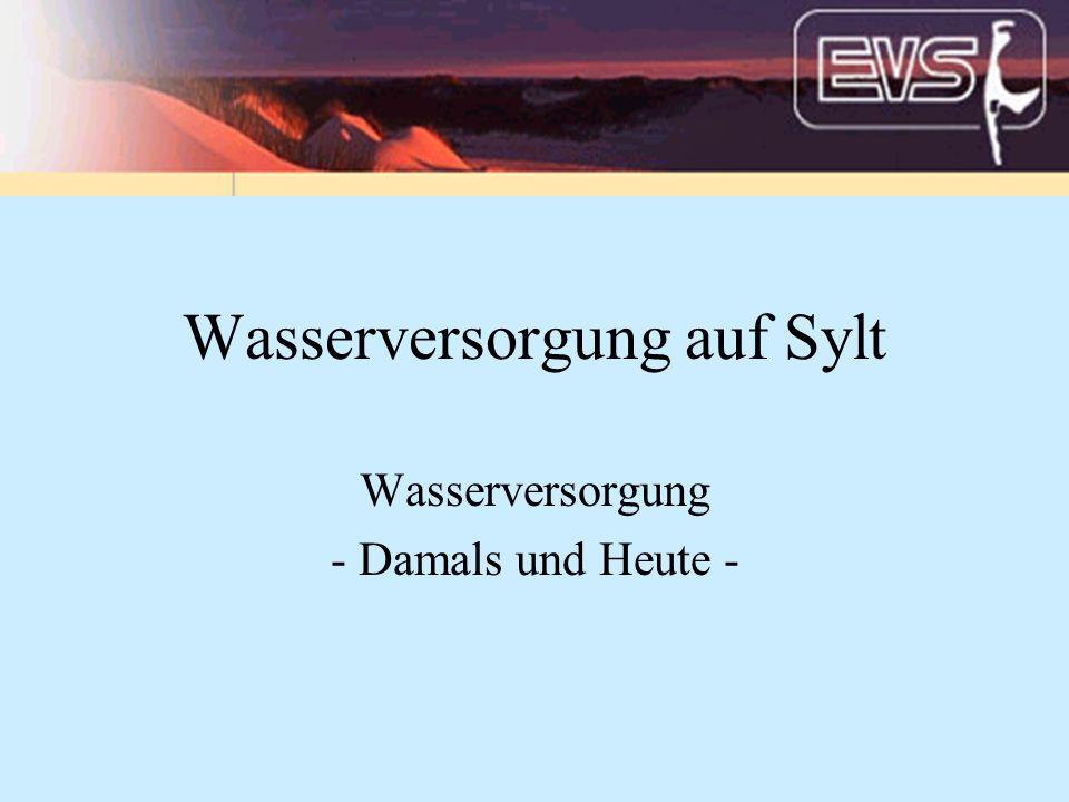 Wasserversorgung auf Sylt