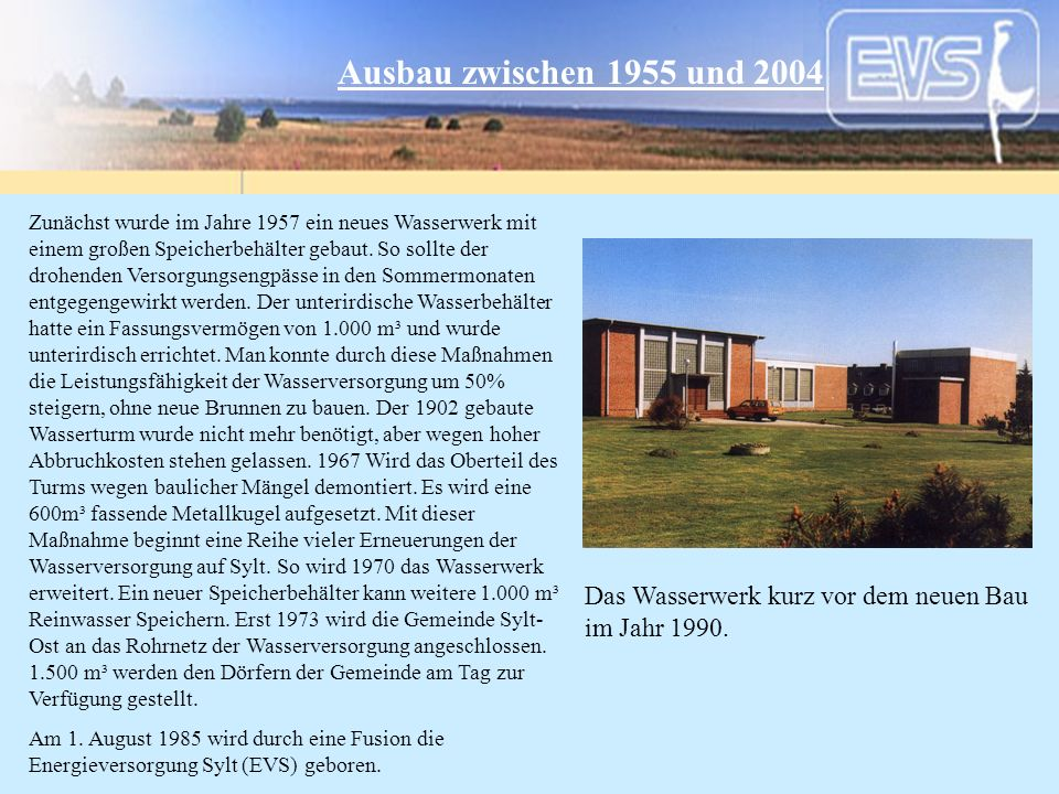 Ausbau zwischen 1955 und 2004