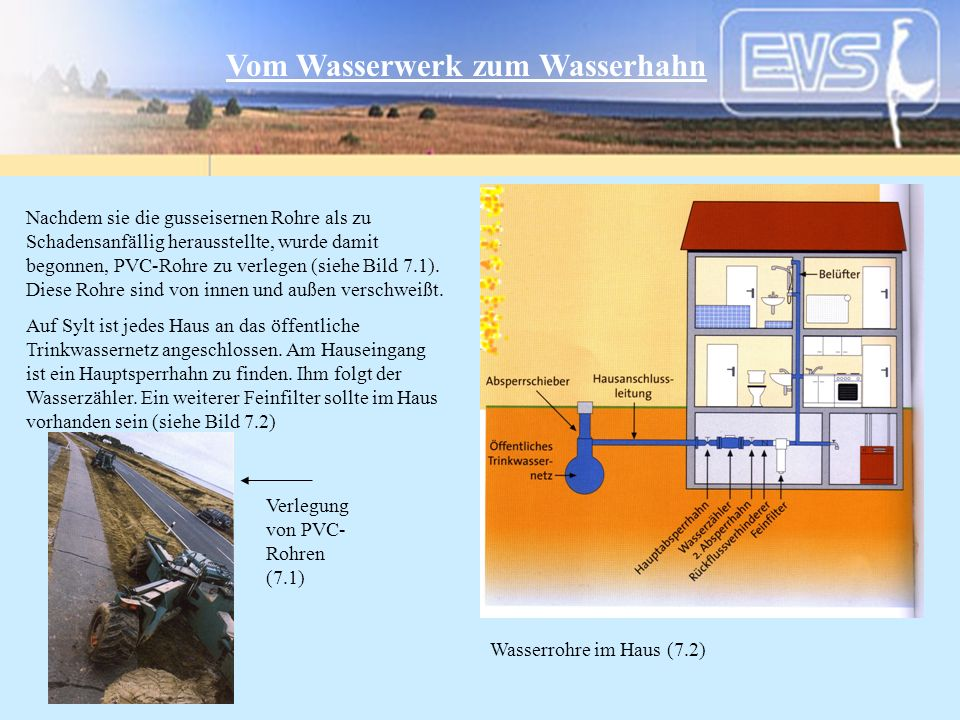 Vom Wasserwerk zum Wasserhahn