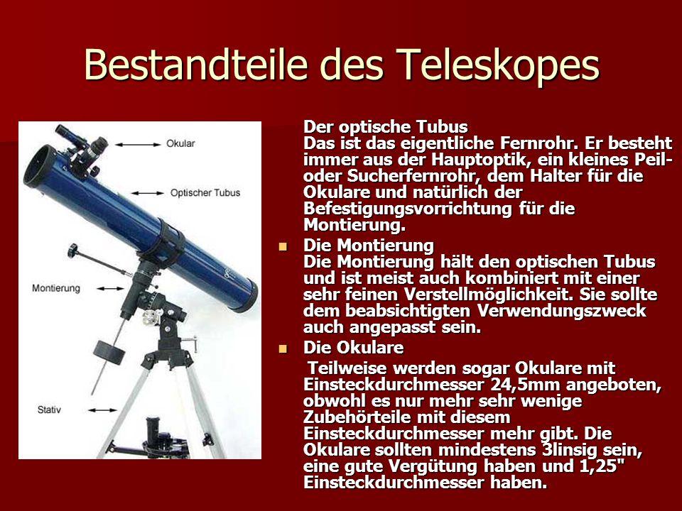 Bestandteile des Teleskopes