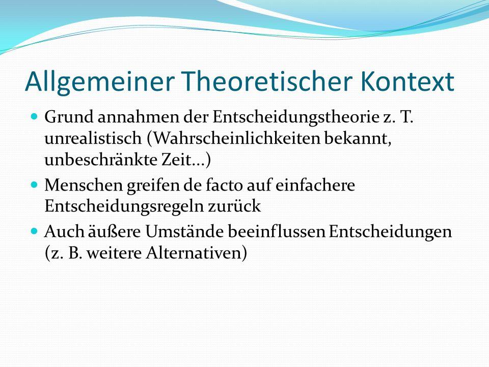 Allgemeiner Theoretischer Kontext
