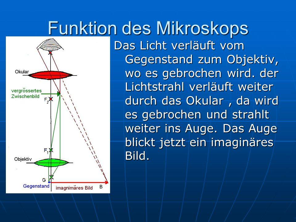 Funktion des Mikroskops