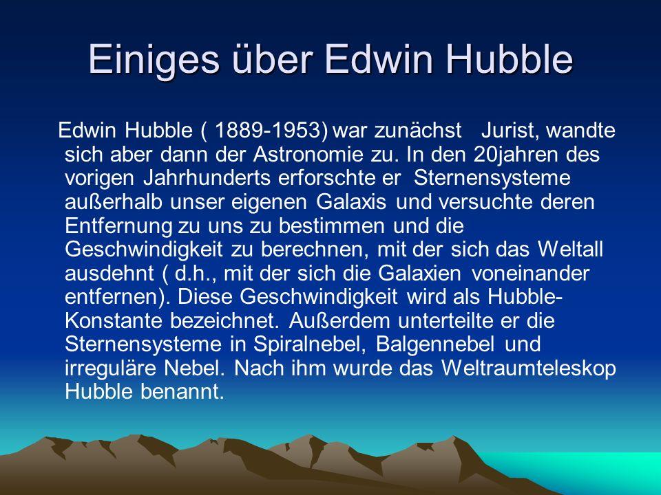 Einiges über Edwin Hubble