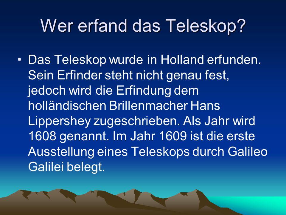 Wer erfand das Teleskop