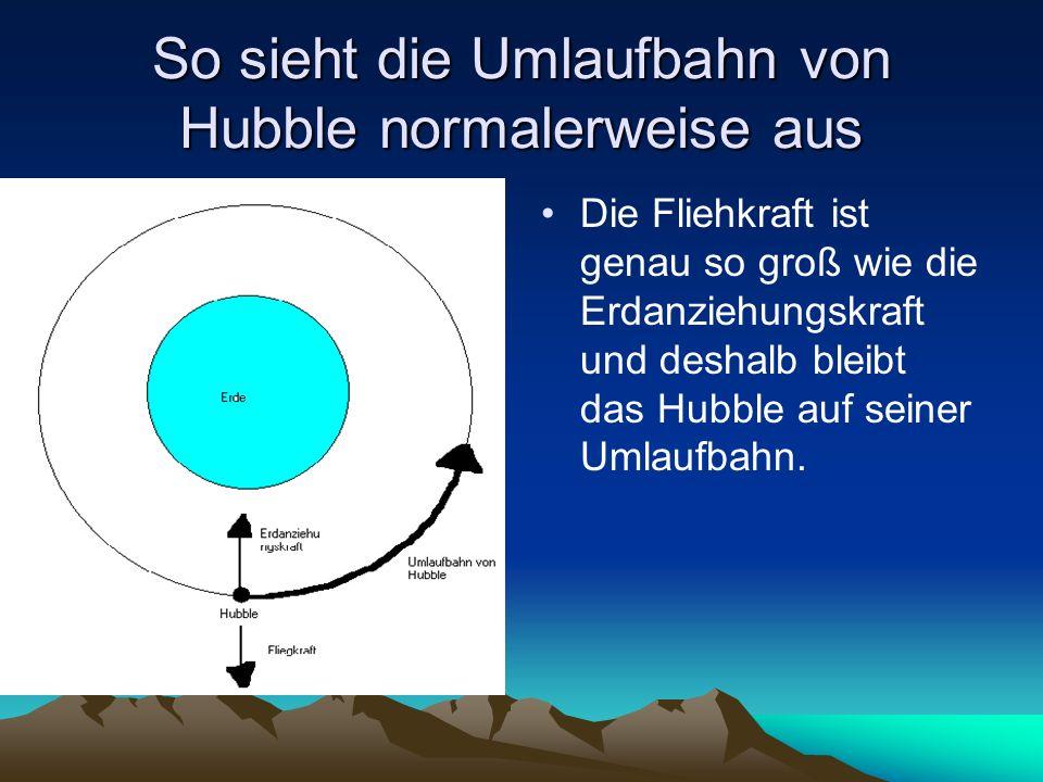 So sieht die Umlaufbahn von Hubble normalerweise aus