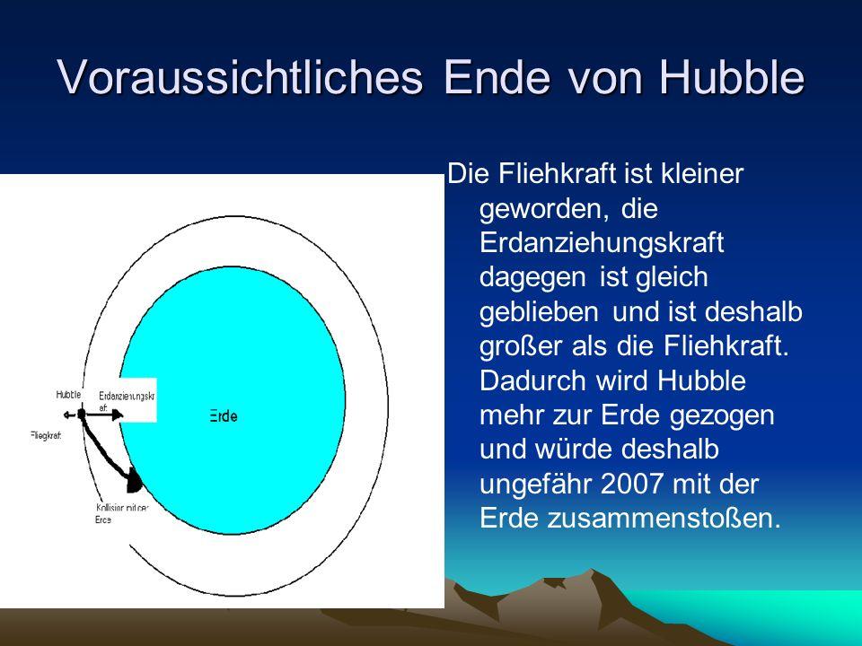 Voraussichtliches Ende von Hubble